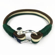 D Shakle Metal Buckle Pria Paracord Rope Bracelet
