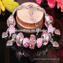 2014 high quality hot fashion girls bracelet DIY beads newest fashion charm bracelet