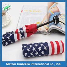 Parapluie de drapeau de l'Amérique quatre couleurs