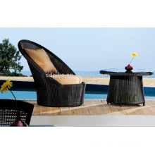 SL-(41) outdoor furniture rattan high back round sofa chair