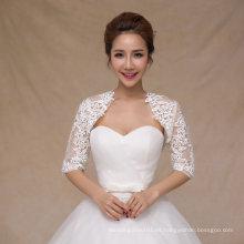 Aoliweiya chaqueta de novia nupcial Shawl novia envuelve con mangas