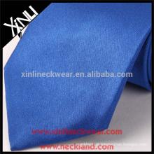 100% artesanal perfeito nó poliéster atacado chinês gravatas azul