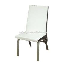 Chaise de salle à manger en bois moderne, dossier de fauteuil en métal pour l'hôtel