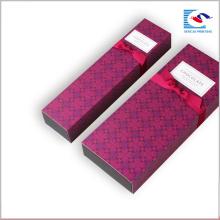 Boîte en carton de fantaisie faite sur commande de carton de la plus défunte conception avec le ruban d'arc
