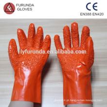 Luvas de pvc com grandes partículas na palma