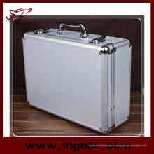 Alta calidad herramienta caja 28 cm aluminio aleación herramienta Case para caja de arma pistola