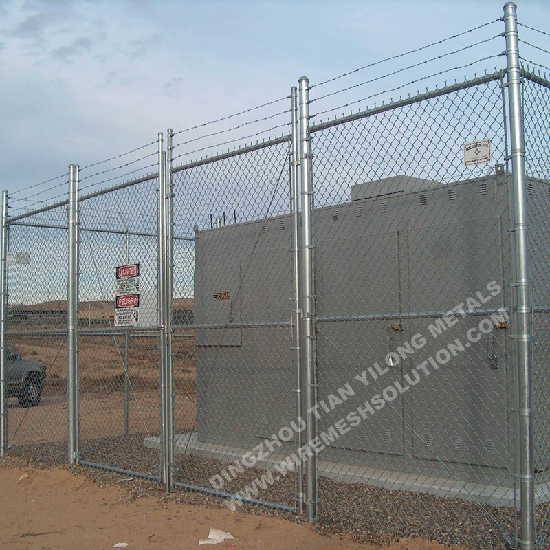 50x50mm Galvanized Chain Link Fence for Garden