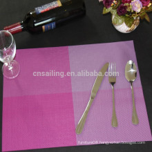 wholesale purple matts pvc placemat for dining-table