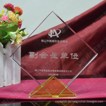 Trofeo personalizado K9 Crystal Glass Awards para regalos de empresa