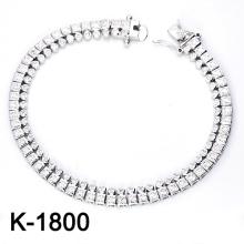 Jóia da forma 925 pulseiras de prata zircônia.