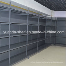 Estante de pared de metal de almacenamiento de pantalla de carga pesada de supermercado