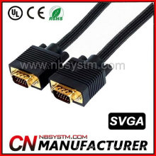 100ft Abendessen VGA M / M Kabel mit Nylonhülse