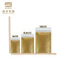 Stoßfestes selbstdichtendes eigenes Logo-Druck Glänzendes Aluminiumfolie-Film-kundenspezifisches Rosen-Goldmetallischer Luftblasen-Versender