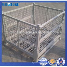 Hot sell collapsible and stackable wire mesh container