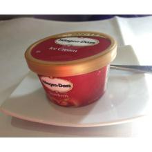 Boîte de crème glacée en plastique imprimée de logo (boîte de crème glacée)