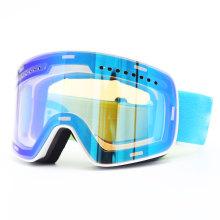 Óculos de proteção masculinos para esqui e snowboard espelhados