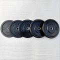 black gym weightlifting rubber weight bumper plate