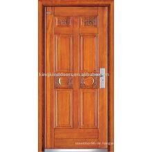 Stahl außen Holztür (JKD-235) für gepanzerte Türdesign aus China Top 10 Marke Tür