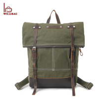 Newly Design Fashion Canvas School Rucksack Travelling Backpack