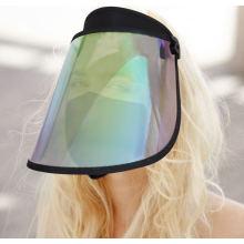 Transparent rainbow len sun visor cap