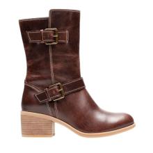 women genuine leather sheepskin lined boots