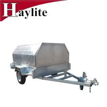 Remolque de granja de tándem de aluminio