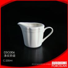 nuevos productos Eurohome de jarro de leche blanca de porcelana de china