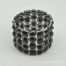 VAGULA высокое качество пистолет металлический черный кристалл браслет