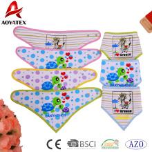 waschbare Baby Lätzchen Dreieck Bandana bedruckte Baumwolle Kinder Lätzchen