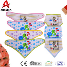 washable baby bibs triangle bandana printed cotton kids bibs