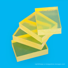 Прозрачный желтый Толщина 1-120мм лист PU для упаковки
