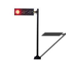 poste de semáforo direcional led de 125 mm temporário