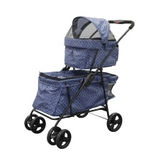 Venda quente Double Decks Pet Carrier Stroller