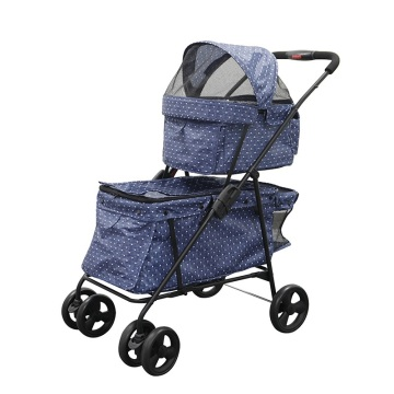 Vente chaude Double Decks Pet Carrier Poussette