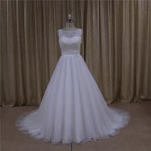 Crystal бисером реальных образцов свадебное платье