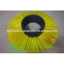 máquina pequena da escova do rolo / escova redonda do rolo que faz a máquina / fabricante industrial da maquinaria da escova do rolo