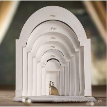 Carte d'invitation de mariage luxueux Carte d'invitation de mariage 3D