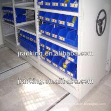 Manual mobile tire tools storage rack
