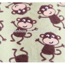 Suave animalito impreso algodón franela niños nacidos mantas