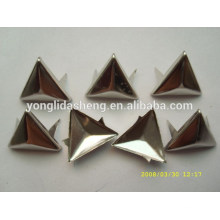 Triángulo / formas cuadradas de plata y oro metálico clavija de clavija, industria de hardware