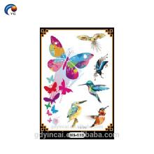 YinCai горячий продавать блеск стикер с Eco-содружественный материал, стикер тела для юных