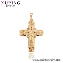 33777 xuping new style gold cross fashion religious pendant for ladies