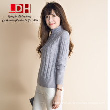 Camisola de cashmere Mulheres Caxemira pura personalizado grande lapis de lã pullovers suéter