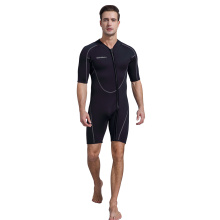 Seaskin Men Zip Depan Shorty Diving Wetsuit