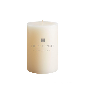 Excellent quality white color unscented paraffin wax pillar candle with long burning time,decorative pillar candles