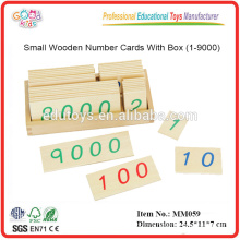 montessori material toys Small Wooden Number Cards With Box
