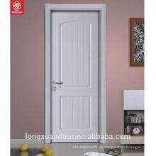 Excelente calidad de bajo precio de color blanco pintura puerta de madera interior