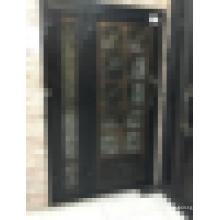 Lowes porta de ferro forjado / porta de entrada