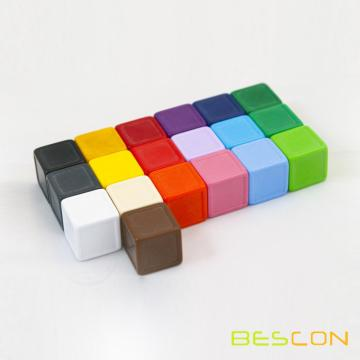 Custom Colorful Blank Indented Dice in Various Sizes