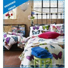 Colcha de cama com estampa de poliéster Butterly (conjunto)